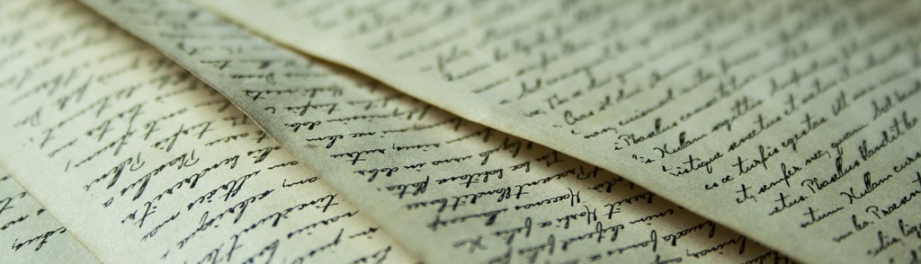 écritures à la main