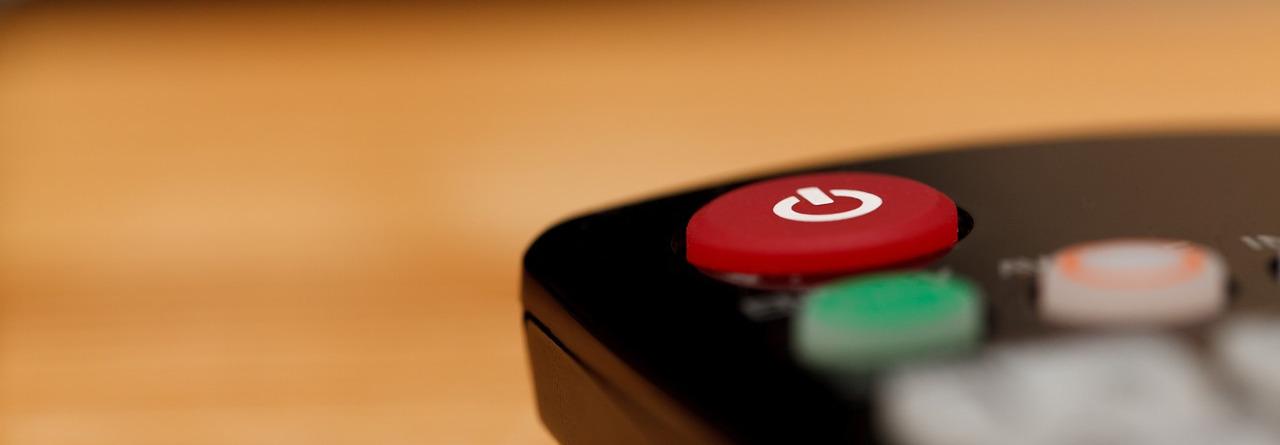 bouton éteindre de la télécommande