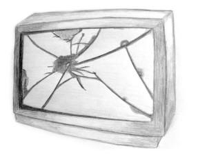 Télé cassée