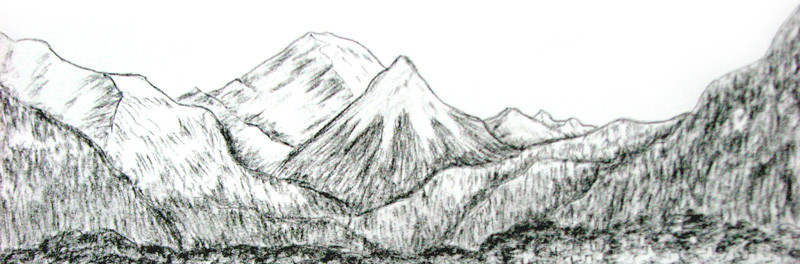 L'espoir, cette chose fugace – dessin montagnes –  Autour du monde