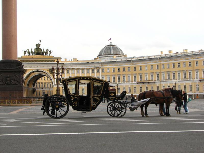 Saint Petersbourg calèche place du Palais