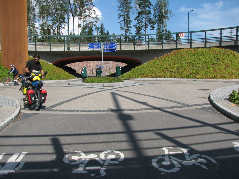 Helsinki autoroute à vélo cyclotourisme