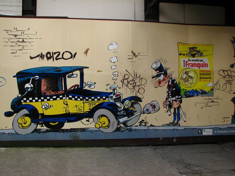 Bruxelles dessin Franquin sur les murs