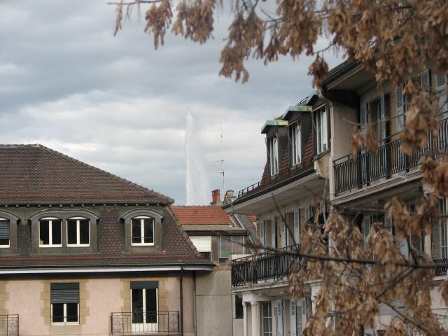 Tour d'Europe ville globale Genève jet d'eau Lac léman