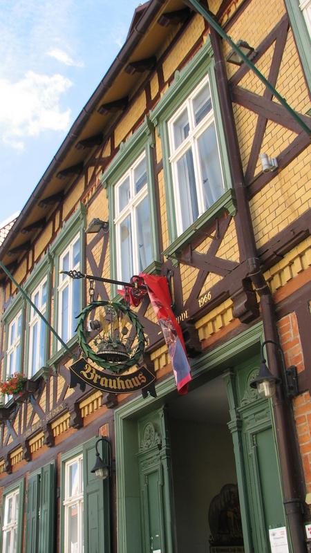 Qedlinburg le long de l'euroroute R1 réservée aux vélos