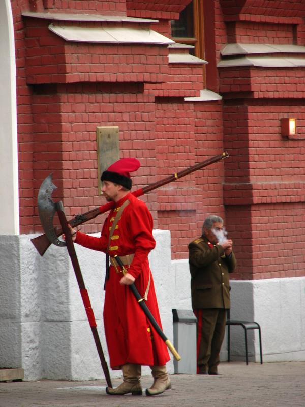 Moscou place rouge gardes de l'armée