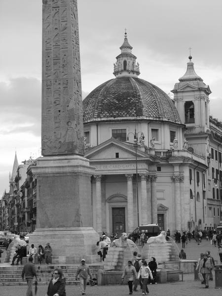 Piazza del popolo place du peuple Rome